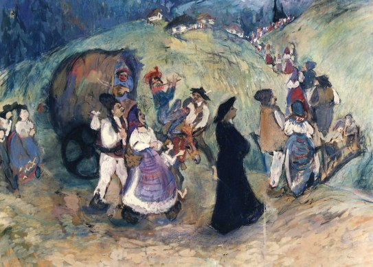 Procession_to_the_Market_1979_24x30