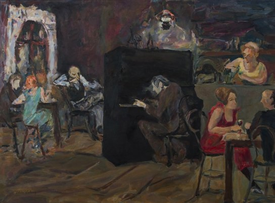The Piano Bar 24x32 1986 Oil on Canvas