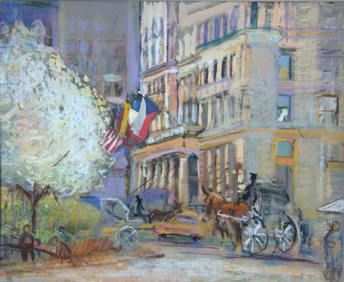 The_Plaza_Hotel_New_York_1981_24x30_Pastel